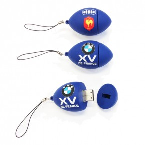 Clé USB Ballon 4Go « XV de France / BMW ».